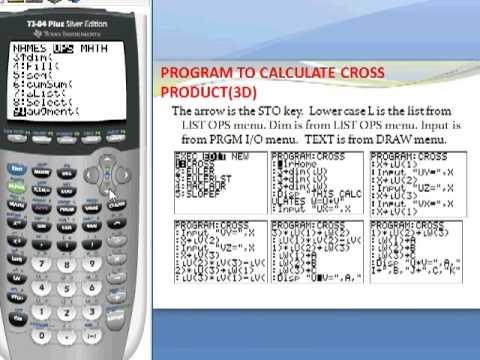 Calc 20 Vectors Cross Product