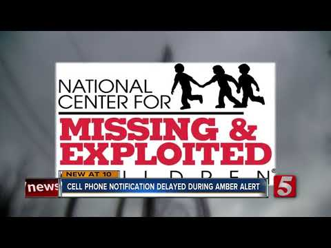 Cell Phone Warning For AMBER Alert Delayed 30 Minutes