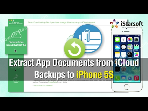How to Extract App Document from iCloud Backups to iPhone 5S