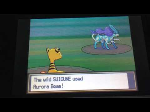 Catching suicune in Pokémon soul silver