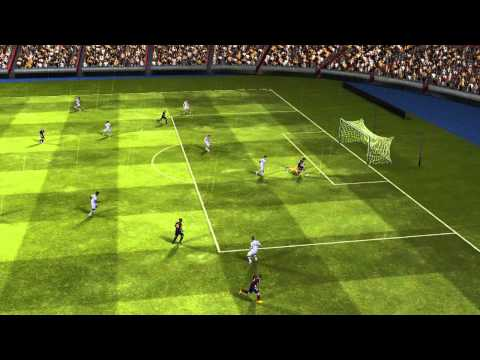 FIFA 14 ANDROID-Messi trick the keeper!!!!