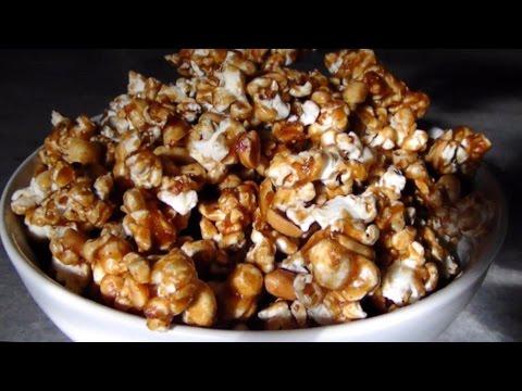 Cracker Jacks Copycat - Homemade Caramel Corn With Peanuts & Spice