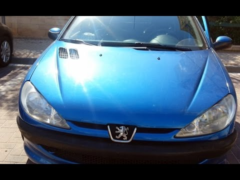 How to replace the Peugeot 206 headlamp bulb