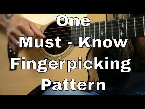 One Must Know Fingerpicking Pattern (demonstrated with Dust in the Wind) - Steve Stine Guitar Lesson