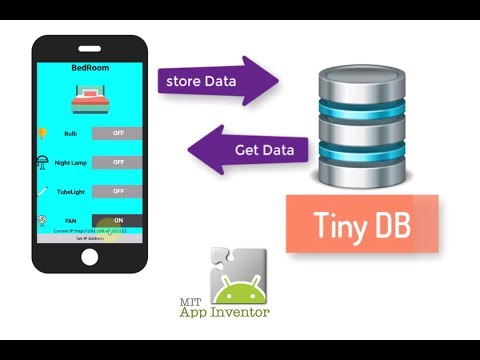 Store Data using Tiny DB In MIT app inventor 2 | Part 1