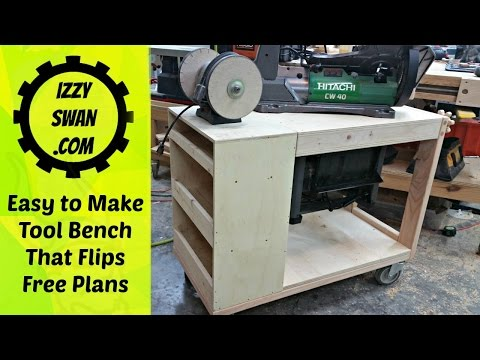 Quick and Easy Tool Bench that flips! (How to Make)
