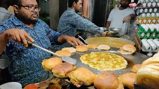 Special Egg Burger of India | Omlet Pav Making | Indian Street Food