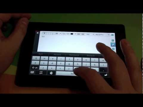 Using Rich Text for fonts, colors and formatting on the BlackBerry PlayBook