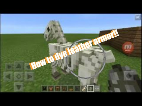 Minecraft PE color name tag and  dyeing leather armor