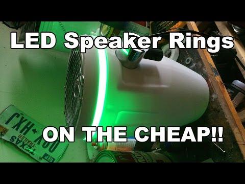 Custom Speaker LED light rings on the cheap!