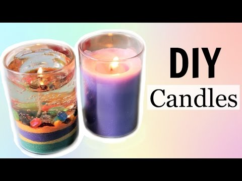 DIY Water / Gel Candle and Aroma Candle without Bee or Soy Wax!! - Easy and Cheap!