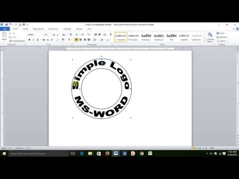 Create simple logo in MS WORD 2010