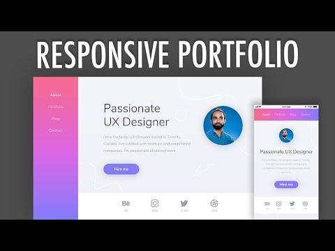 Design & Code Responsive Portfolio Website (PART 1) | XO PIXEL