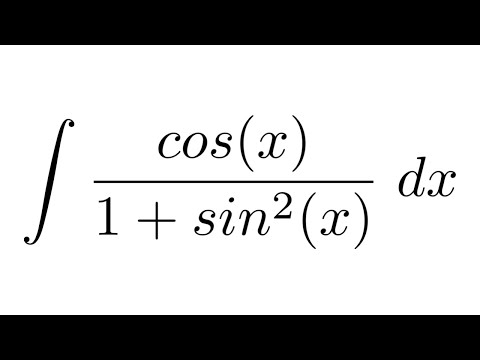 Integral of cos(x)/(1+sin^2(x)) (substitution)