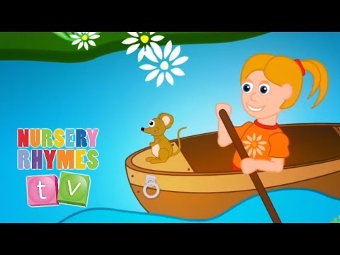 ROW ROW ROW YOUR BOAT | Nursery Rhymes TV. Toddler Kindergarten Preschool Baby Songs.