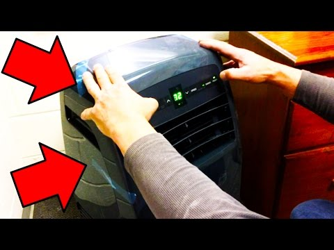 How to install and setup Portable Air Conditioning unit Tutorial (LG LP1215GXR)