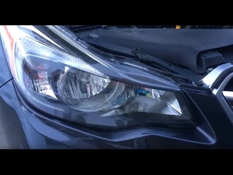 Subaru Impreza Headlight Replace Video 2011 2012 2013 2014