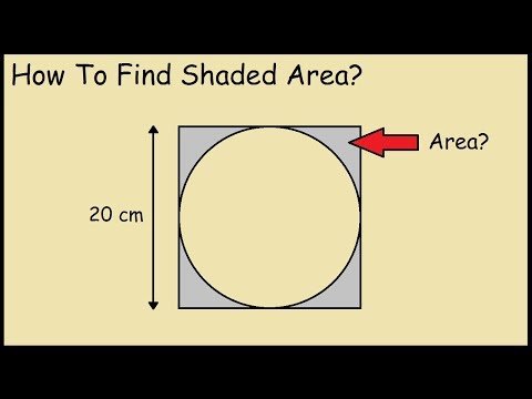 Find the shaded region (circle inscribed in a square)