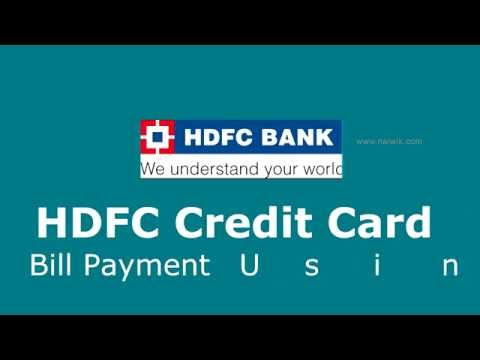 HDFC Credit Card Bill Payment online with BillDesk payment Gateway