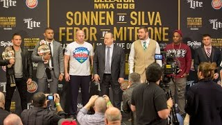 The COMPLETE Chael Sonnen vs Wanderlei Silva press conference & face off video - New York