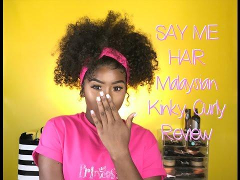 Say Me Hair Malaysian Kinky Curly Initial Installment