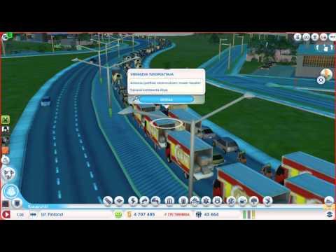 SimCity 2013 | Biggest Traffic Jam Ever | Finnish