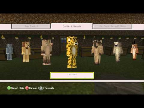 Minecraft Xbox 360 - New Battle and Beasts Skin Pack. (May 8th 2013)
