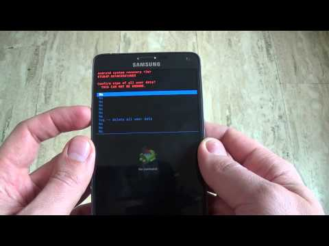Samsung Galaxy Note 4 N910C - How to remove pattern lock by hard reset
