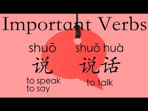Learn Chinese Vocabulary HSK 1: 说shuō--speak/say; 说话shuōhuà--talk