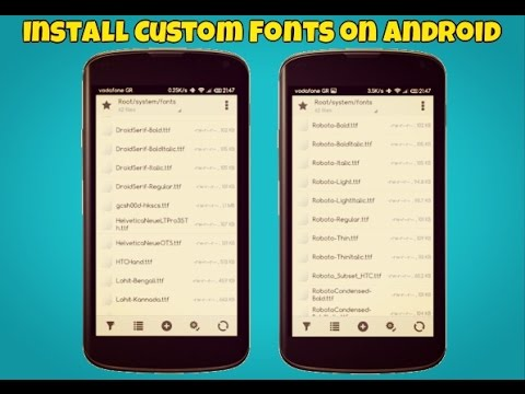 How to Change Fonts in Any Android Phone! (2017)