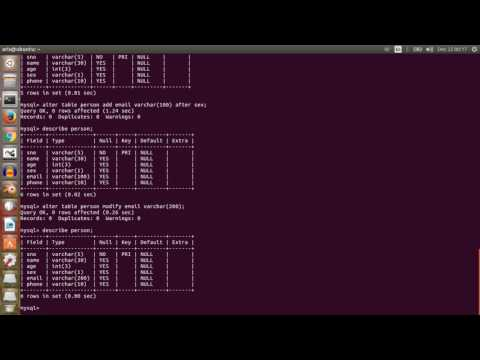 How to use and use of mysql database in ubuntu or linux machine