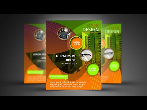 Photoshop Tutorial   Abstract Shape Flyer Design