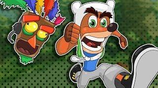 Gmod D-run Funny Moments -Crash Bandicoot Castle!