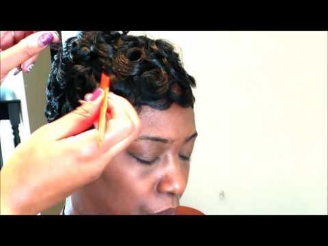 EASY PINCURL SOFT FINGERWAVE SHORT HAIR FULL TUTORIAL