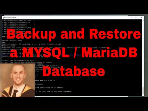 How to backup and restore a MySQL (MariaDB) database in CentOs Linux