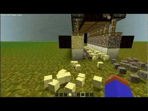 Minecraft 1.8.1 Sand and Gravel Farm Tutorial