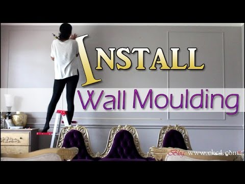 DIY | How To Install Wall Moulding / Molding Trim | Living Room Makeover