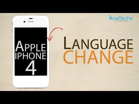 Apple iPhone 4 - How to change the language