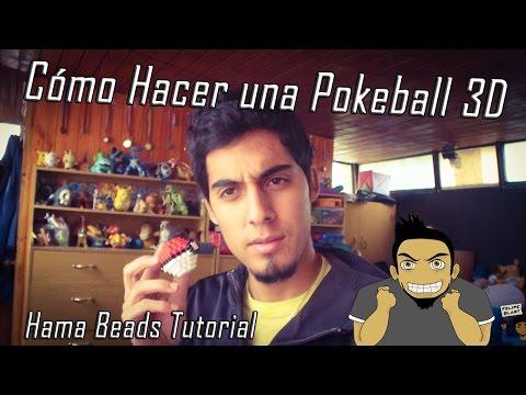 Como hacer una Pokeball 3d con Hama/Perler/Fuse Beads (Tutorial Completo)