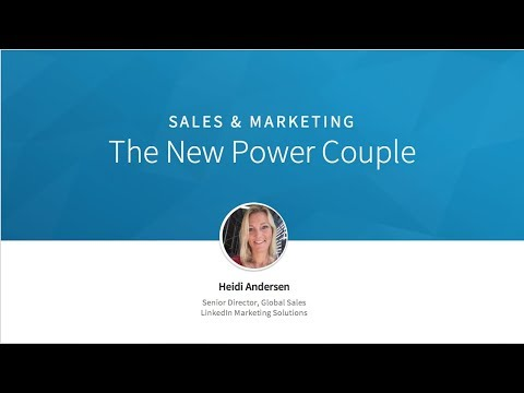 Sales & Marketing: The New Power Couple - Sales and Marketing Alignment Keynote: Heidi Andersen