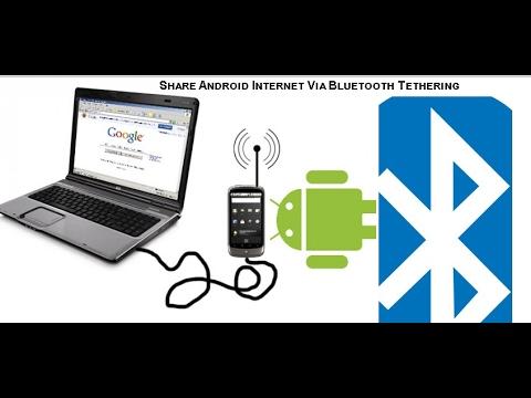 Share Internet Via Bluetooth  -Android Bluetooth Tethering