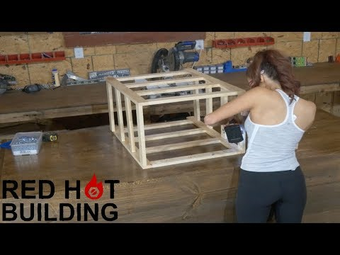 Storage Table with Crates | Red Hot Building