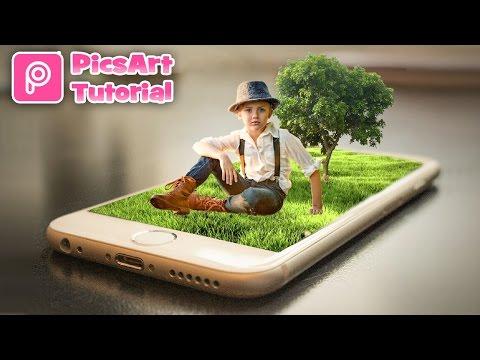 PicsArt Editing Tutorial | Little Baby Sitting on iPhone | Photo Manipulation HD
