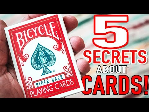 5 HIDDEN SECRETS in a Deck of Cards You May Not Know Of!!