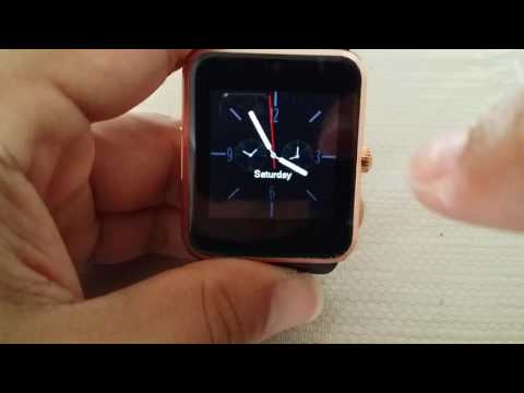 How to change pre-installed Clock face on GT08 Smart watch