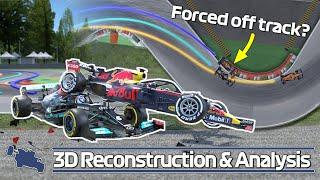 Hamilton vs Verstappen 3D Crash Animation - 2021 Italian GP