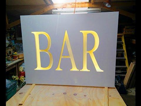 LED Light Wedding Bar Sign
