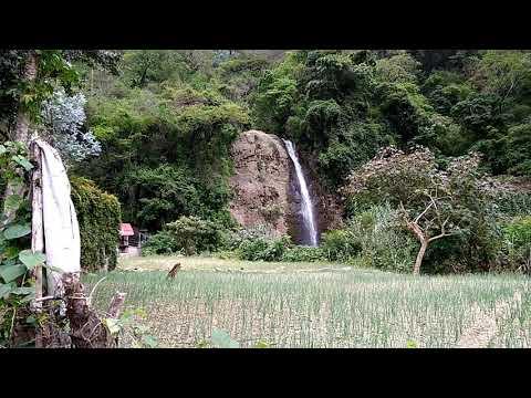 Waterfall near panajachel Guatemala Lake atitlan