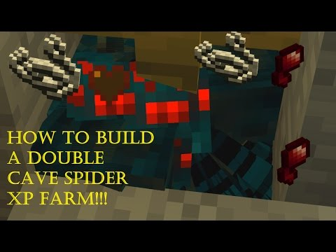How To Make A Double Cave Spider XP Farm!! Tutorial.