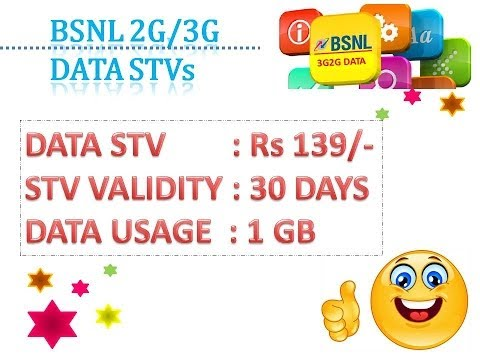 BSNL 2G3G Unified Prepaid Data Plans- No Roaming charges